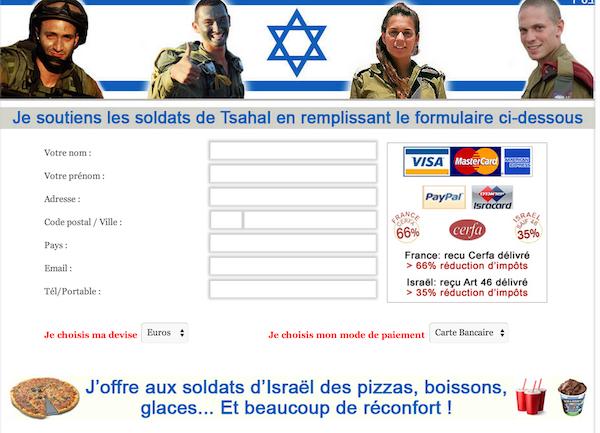déduction impots armée isrélienne