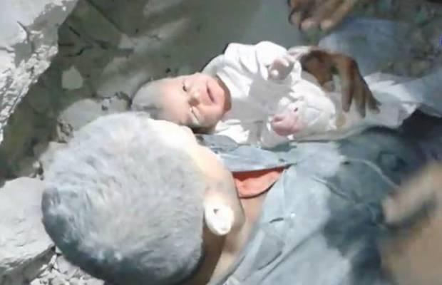 miracle alep syrie bébé