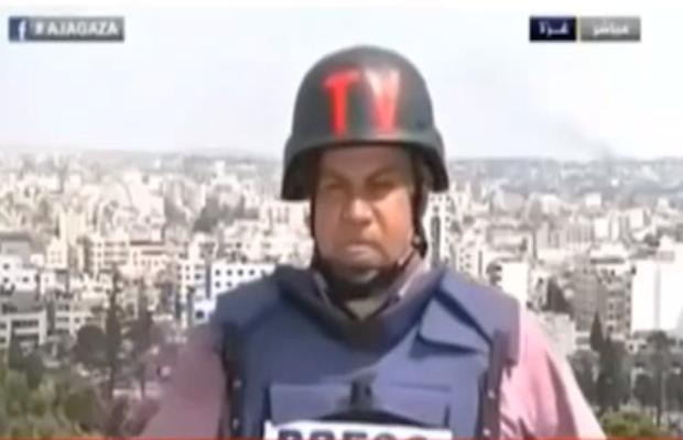 Un reporter tente de décrire le massacre qui a eu lieu dans le quartier Shaja'ia à Gaza. Le journaliste, témoin d'une véritable hécatombe, ne peut pas répondre