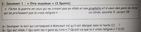 islamophobie ecole