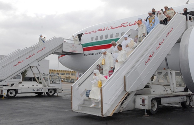 pelerins marocains de retour du hajj