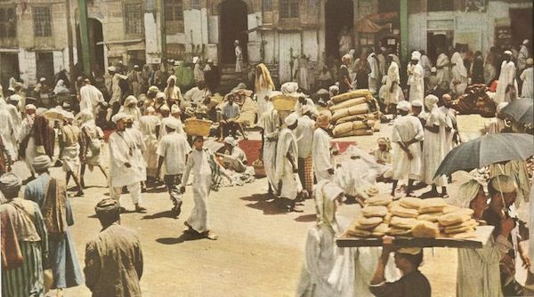 Les marchés et les étals près de la mosquée Al Haram