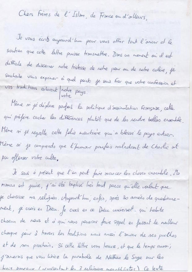 lettre mosquee