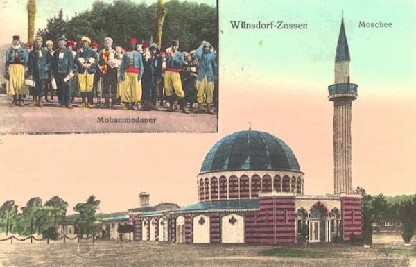 Carte postale mosquee Zossen