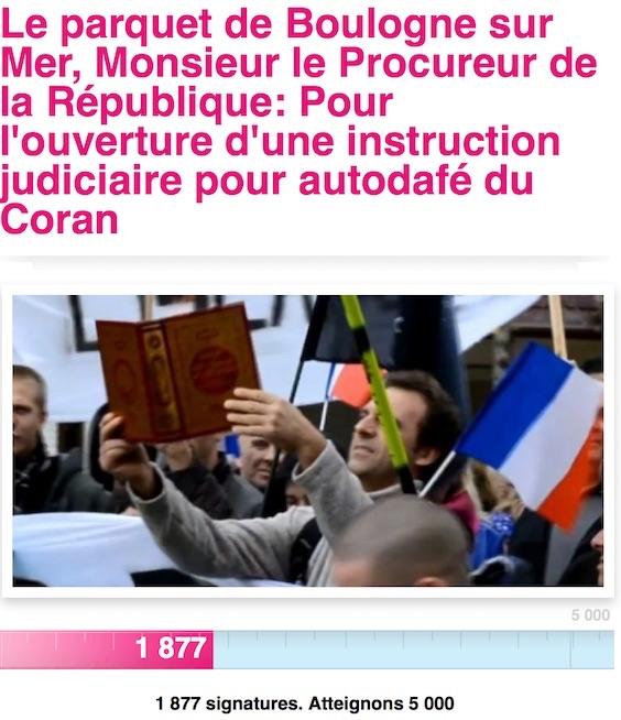 Coran br l calais le procureur a ouvert une enqu te le journal du musulman - Comment enlever le brule d une casserole ...