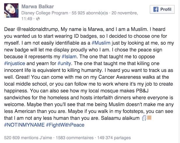 lettre ouverte musulmane