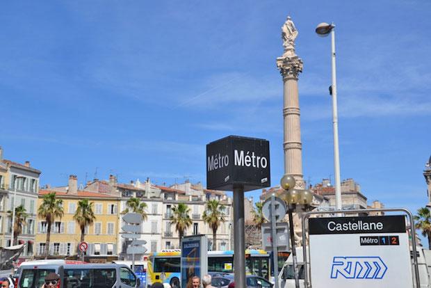 agression islamophobe métro Castellane dans le centre de Marseille.