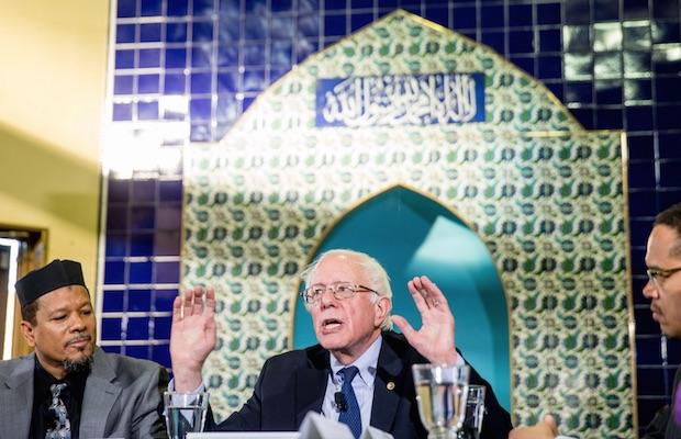candidat juif Masjid Muhammad washington Bernie Sanders