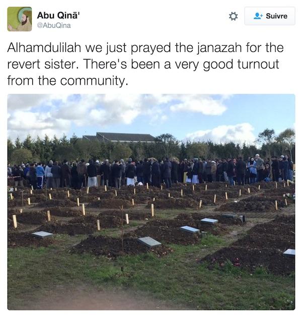 janaza convertie à l'islam