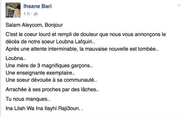 Loubna belgique attentat