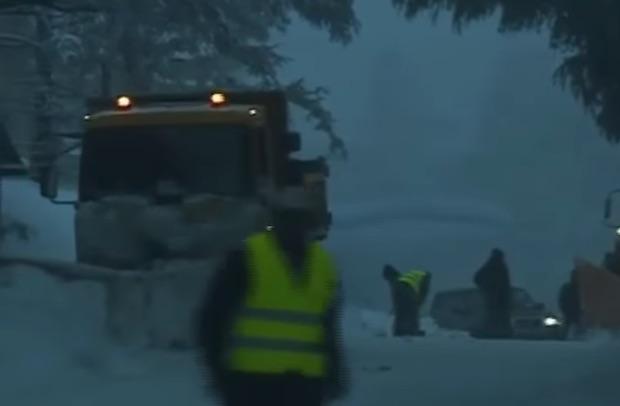 neige au maroc vidéo