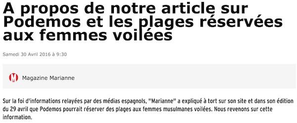 MARIANNE hoax