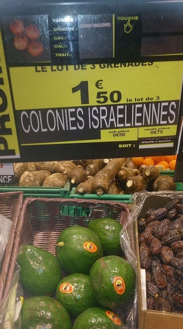 etiquette auchan colonies israeliennes
