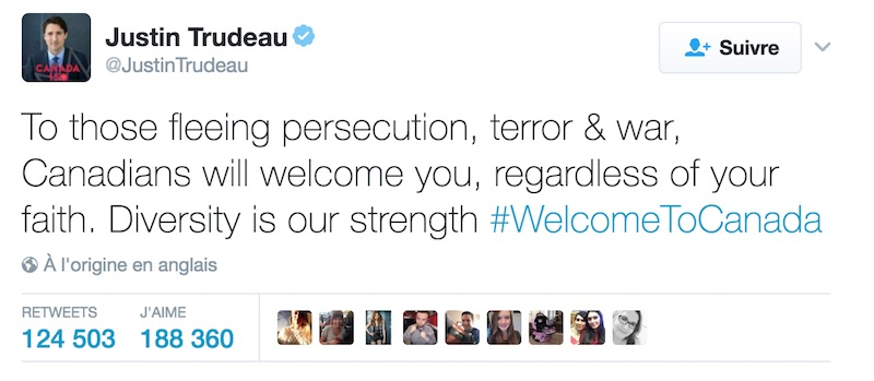 Justin Trudeau anglais