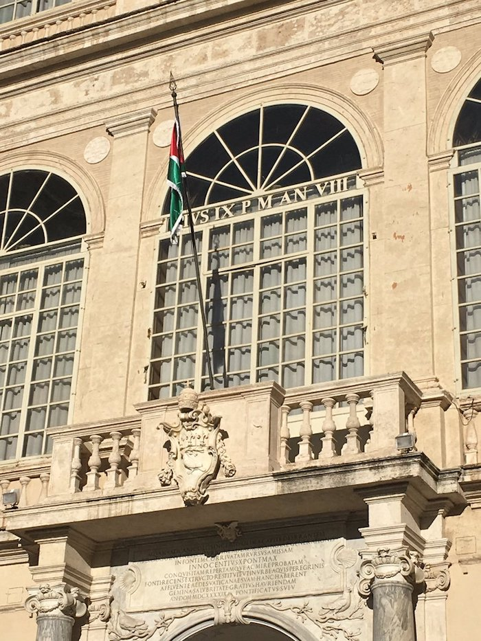 drapeau palestinien vatican