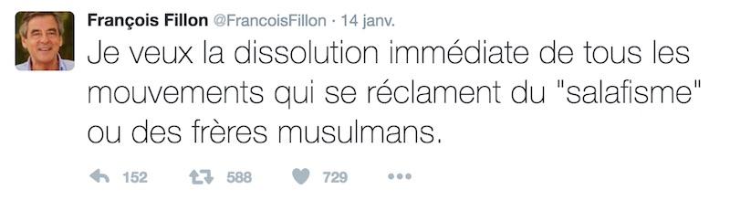 fillon dissolution salafisme freres musulmans