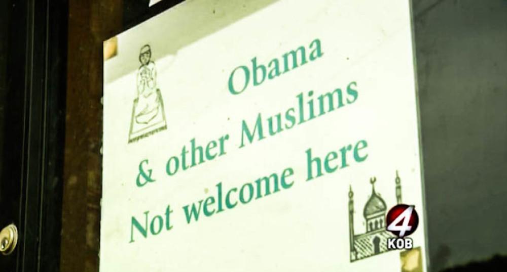 pancarte musulmans obama