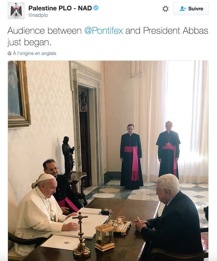 amabassade palestinienne pape