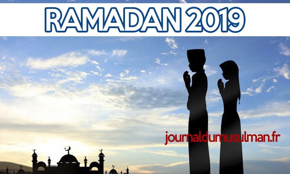 Calendrier ramadan 2019 DATES