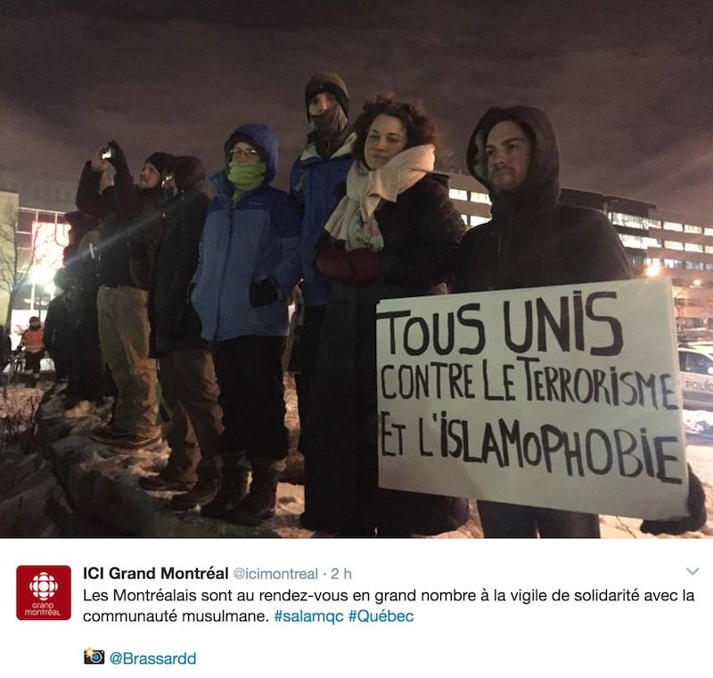 solidarité attentat canada