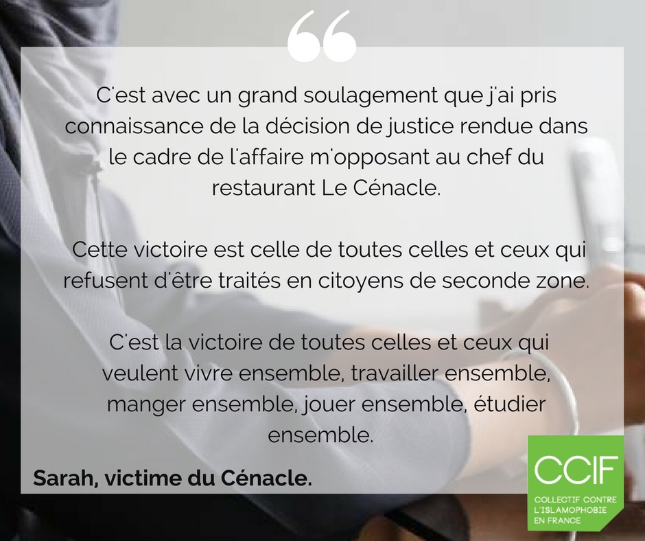 restaurateur cenacle