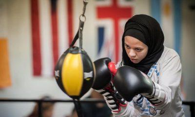 boxeuse musulmane hijab voilée