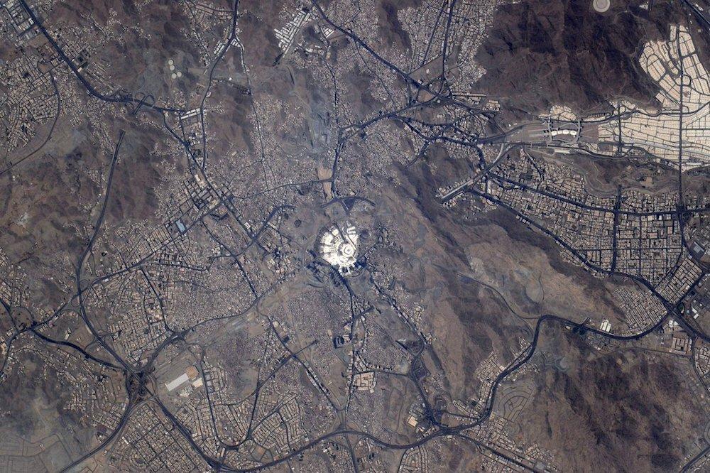 La mecque vue de l'espace