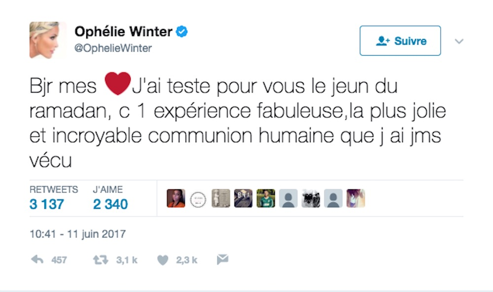 Ophélie winter ramadan