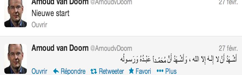 Arnoud van Doorn, ancien membre du parti islamophobe de Geert Wilders se convertit à l'Islam